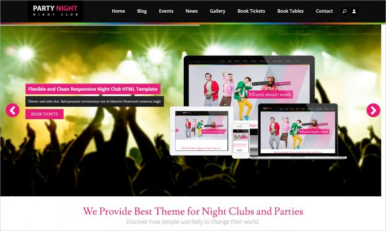 Club & Party HTML Website Template