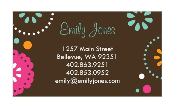 Calling Card Template   Free Sample Example Format Download