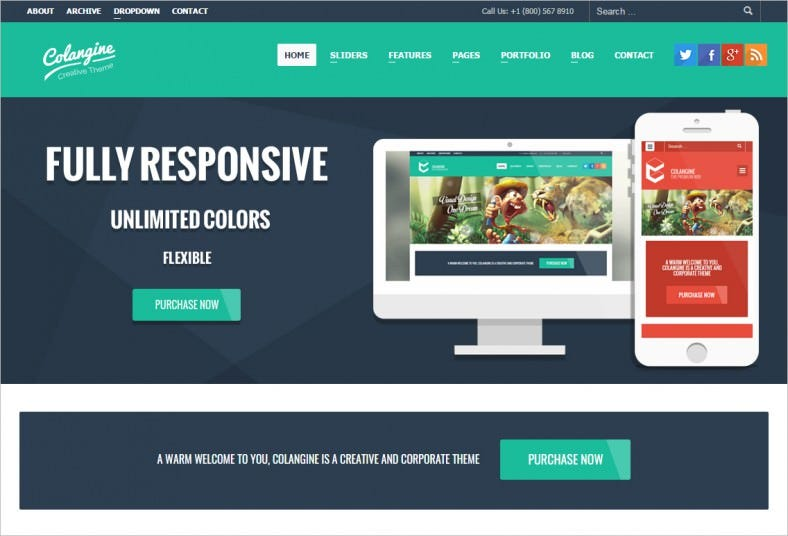colangine creative flat wordpress theme rtl 788x536