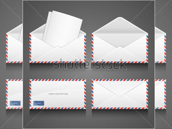 collection of letter envelope template download