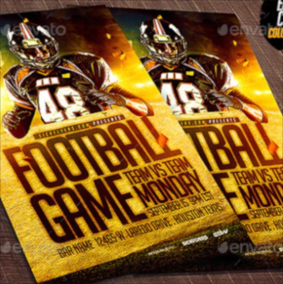 college football flyer template1