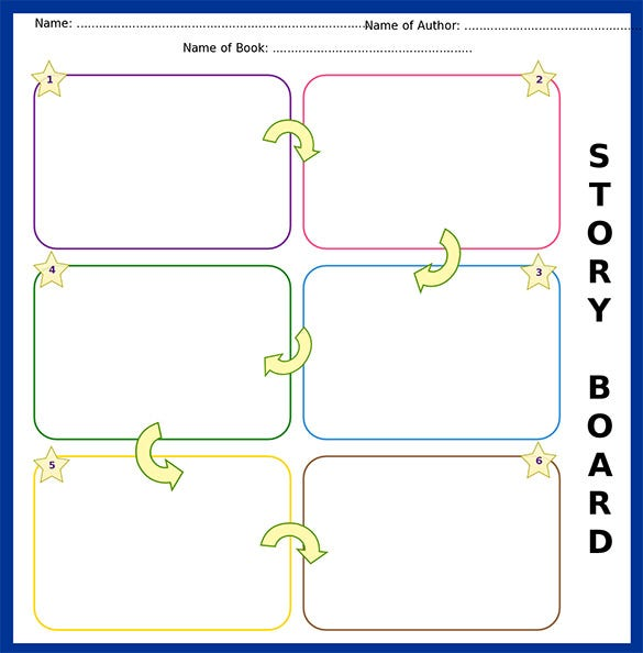 colorful storyboard template for kids format download