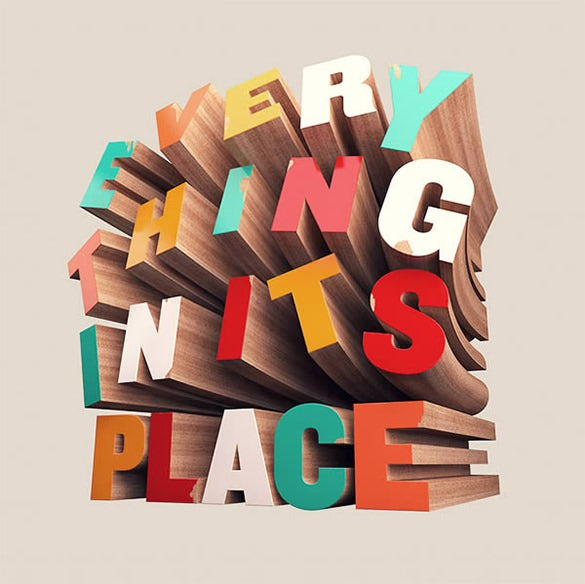 colorful wooden 3d typography tutorial