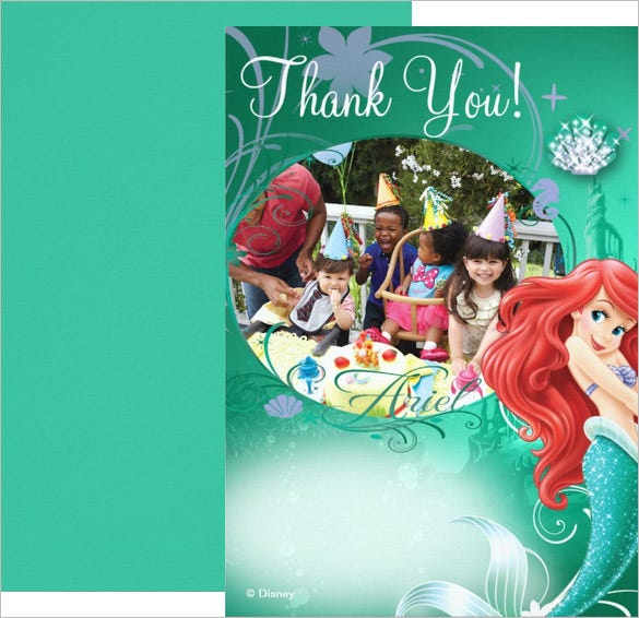 colourful birthday thank you card design