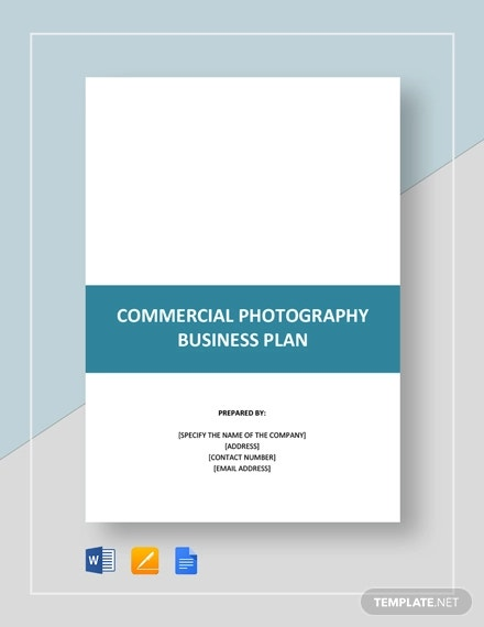 commercial photography business plan template
