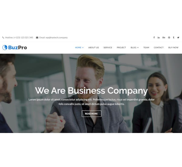 company corporate wordpress theme