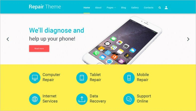 computer repair joomla template 788x445