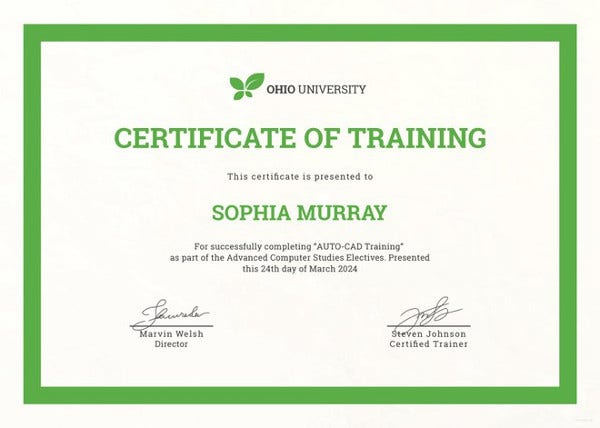Training certificate template 27 free word pdf psd for Course certificate template word
