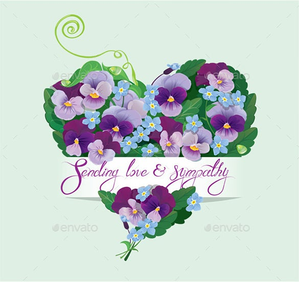 conceptual heart sympathy card download 5