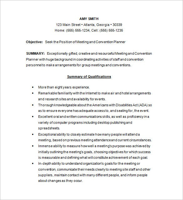 meeting and events coordinator cover letter