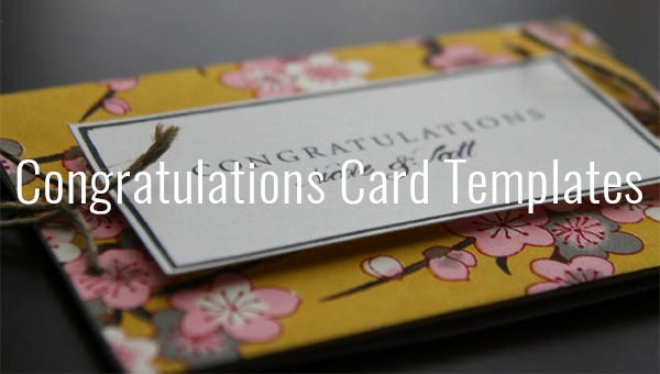 Congratulations Card Template 20 Free Sample Example