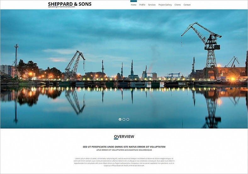 construction company html website template 788x553