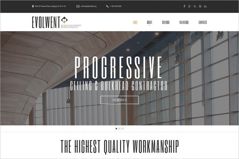 construction company html5 website template 788x524