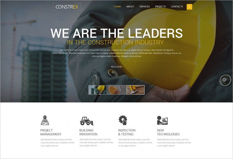 Construction Industry HTML5CSS3 Website Template