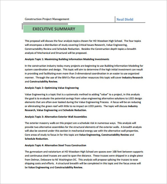 Construction Proposal Templates Free Word Excel PDF Format - Masonry contract template