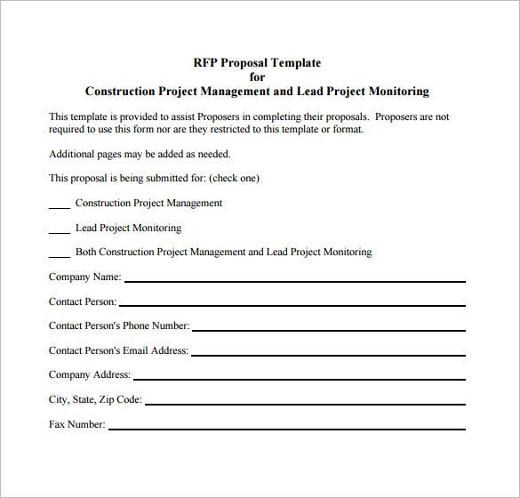 construction project proposal example