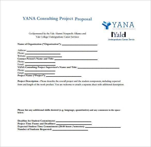 Consulting Proposal Template 13 Free Sample Example Format – Project Proposal Example
