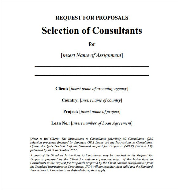 Consulting Proposal Template Format Download