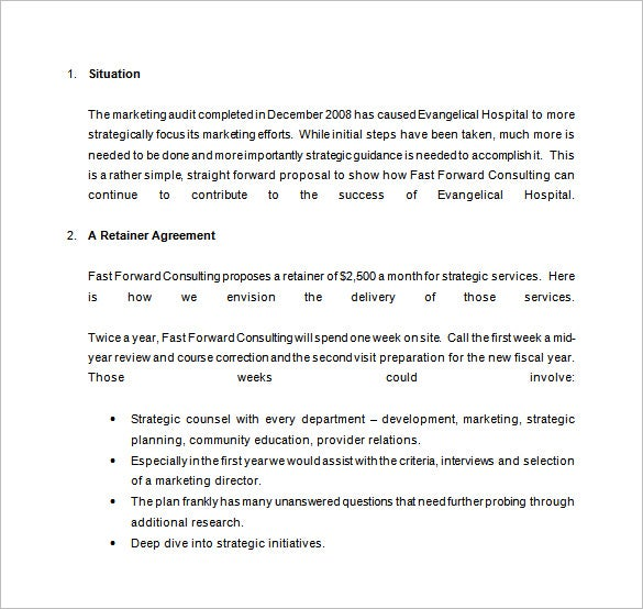 Consulting Proposal Template 13 Free Sample Example Format – Retainer Agreement Template