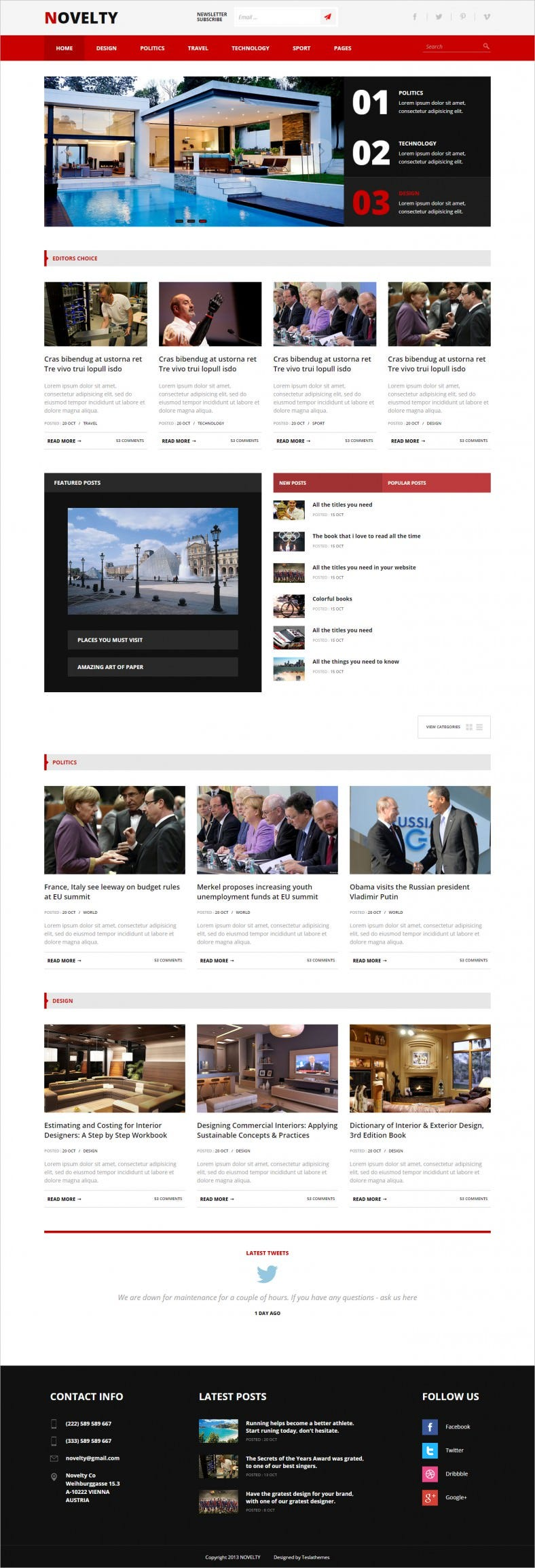 Content Sharing HTML Website Theme