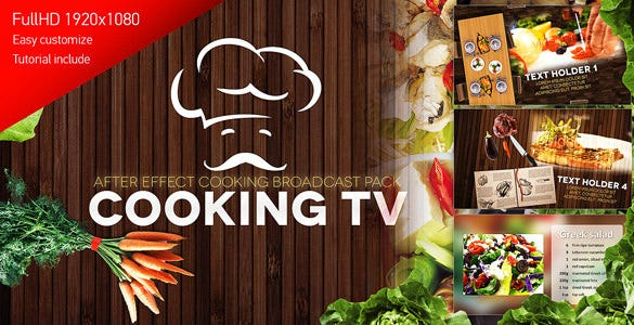 cooking show after effects template free download