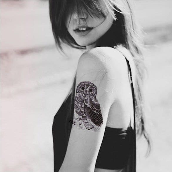 cool owl temporary tattoo download1