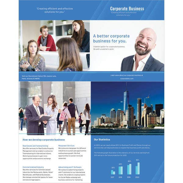 corporate bifold brochure vector template1