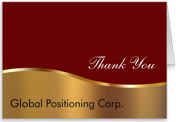 corporate business thank you card design