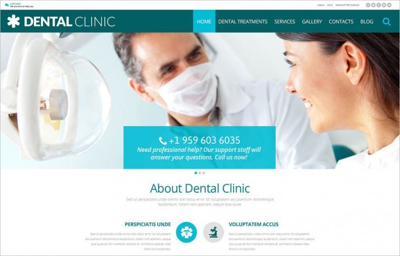 Corporate Dental Clinic WordPress Template