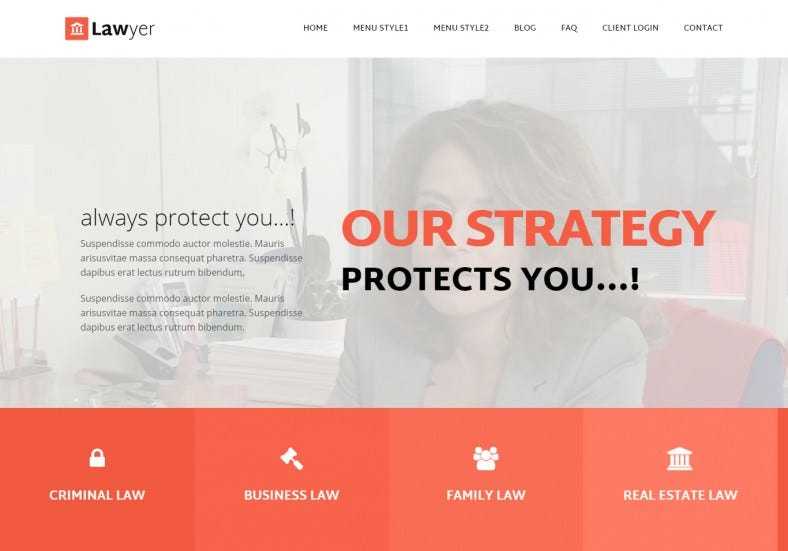 Corporate Lawyer Responsive HTML5 Template