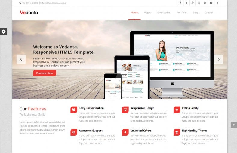 Corporate Responsive Multi-Purpose Website Template
