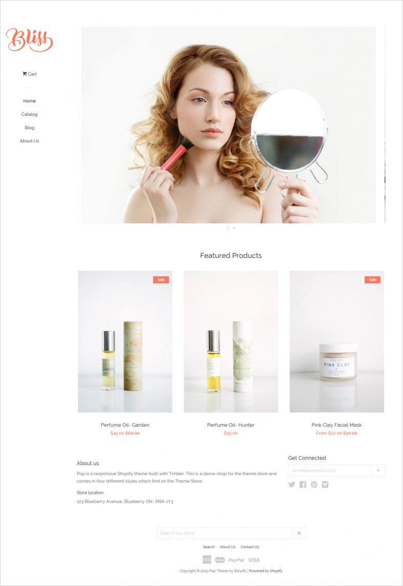 Cosmostic Store Ecommerce Theme Free Downloads