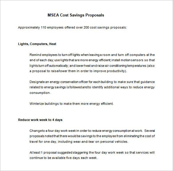 Cost Proposal Template 11 Free Sample Example Format Download – Simple Proposal Template Example