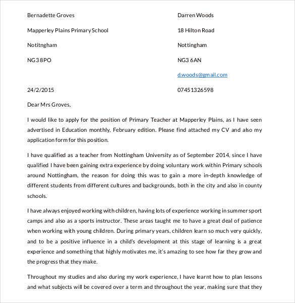 cover-letter-for-a-primary-school-teaching-position