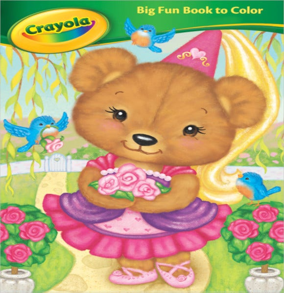 crayola coloring book cover art