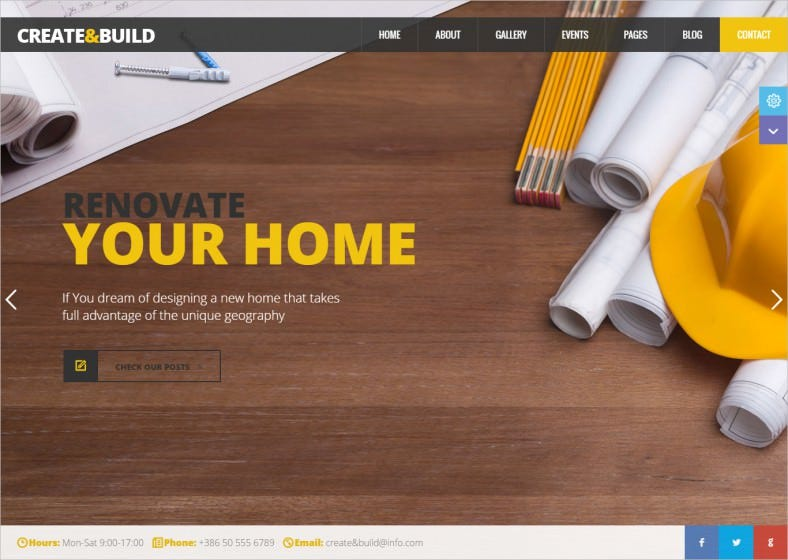 Create & Building HTML template