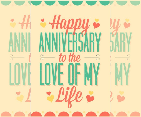 Anniversary Card Template – 12+ Free Sample, Example Format Download ...