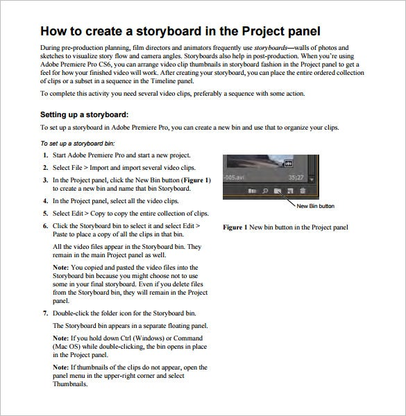 Project Storyboard Template – 7+ Free Sample, Example, Format