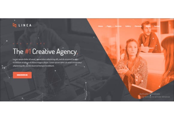 creative agency portfolio and multipurpose website template