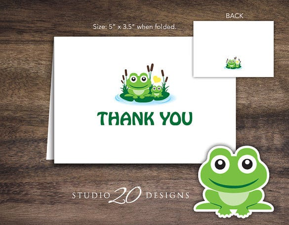 creative baby shower thank you card