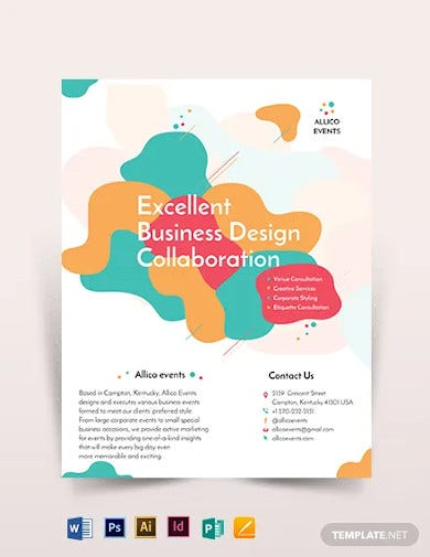 creative business event flyer template