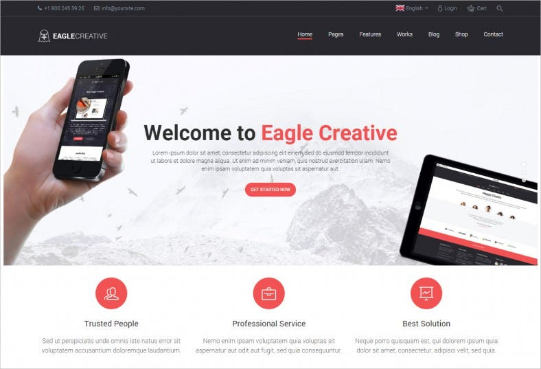15 business website templates themes free premium free creative business website template wajeb Gallery