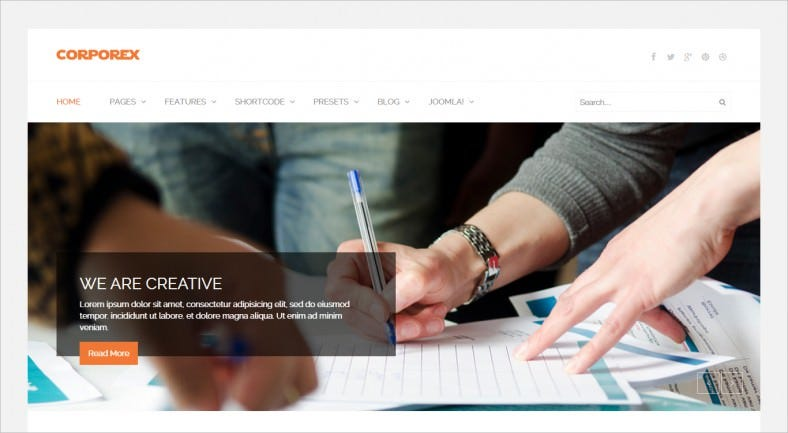 Creative Consulting Company Joomla Templates