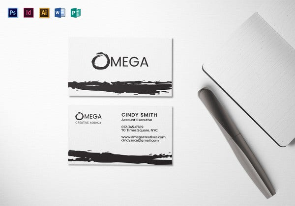 creative corporate business card illustrator template