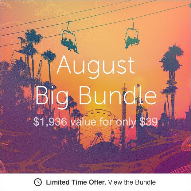 Creative Market Big Bundle August