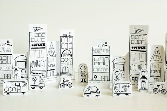 creative paper art and craft template