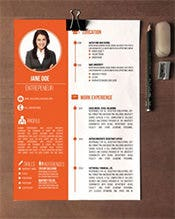 Creative-Resume-Design-Orange-Colour