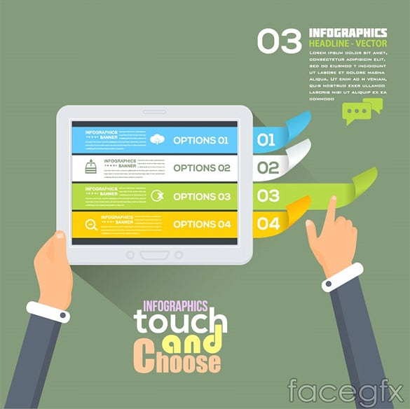 creative touch infographic psd template