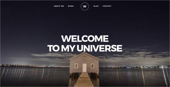 creative twitter bootstrap portfolio website template
