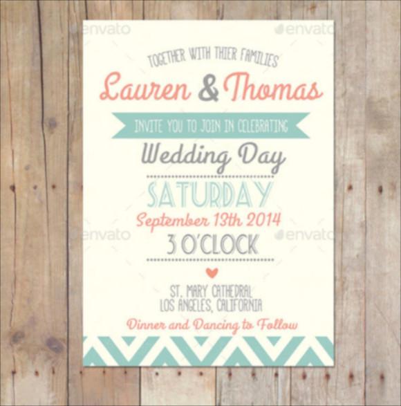 creative vintage wedding invitation